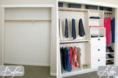 Before & After of DIY Closet Kit