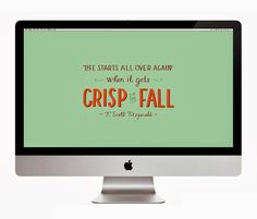 Fitzgerald Crisp in Fall Quote  Decorate Your Desktop: 05
