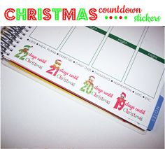 Christmas Stickers fits Erin Condren Life Planner by PlannerCandy