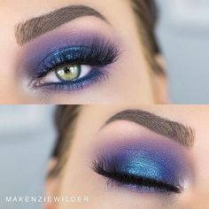 @makenziewilder definitely caught our eye with this colorful look!  #SigmaBeauty Products Used: Nightlife and Smoke Screen Eye Shadow Palettes Astral Loose Shimmer Indigobird Eye Liner Pencil