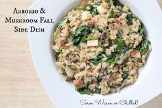 Arborio & Mushroom Fall Side Dish | 5DollarDinners.com