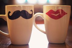 These his and hers mugs would make such a sweet gift for newlyweds