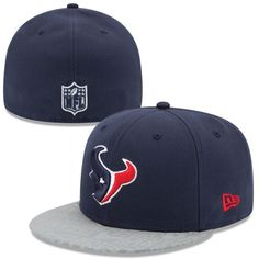Houston Texans New Era NFL Draft 59FIFTY Reflective Fitted Hat - Navy Blue - $22.99