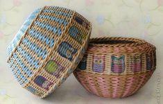 Tutoriales para hacer cestos con periódicos » El blog de LosAbalorios.