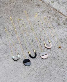 U shaped necklace / AMM Jewelry