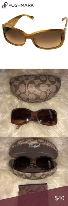 coach jenni s469 blonde tortoise sunglasses 🐾 still in great condition   retail price still at $100 + online .  case included  but its not in that great condition anymore. Coach Accessories Sunglasses