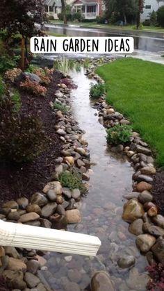 Front Yard Landscaping, Backyard Patio, Backyard Ideas, Landscaping Ideas, River Rock Landscaping, Landscaping With Rocks, Outdoor Landscaping, Garden Yard Ideas, Lawn And Garden