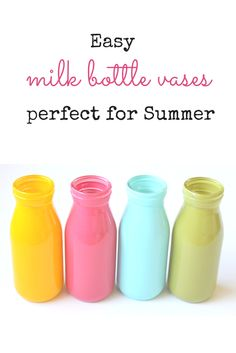 These Easy Milk Bottle Vases are SO Perfect for Summer!