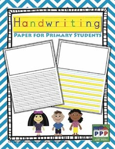 FREEBIE. Handwriting paper (2 styles) with illustration box.
