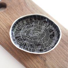 etched porcelain dish by Suzanne Sullivan.
