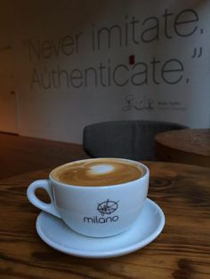 """Finishing off a great day with a real coffee @MilanoRoasters"" Image by @FoodieIAm"