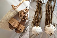Ethnic is our favorite. Go for wooden sandals & braided necklaces #nature #stones #crochet #boho #hippie