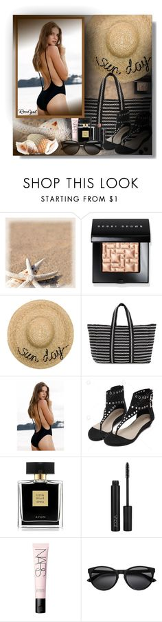 """""""Monokini High Cut Backless One Piece Swimwear - Rosegal Contest!"""" by sarahguo ❤ liked on Polyvore featuring Bobbi Brown Cosmetics, Eugenia Kim, B Brian Atwood, Arbonne, Avon and NARS Cosmetics"""