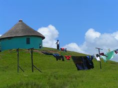 Transkei scene with washing line John Stuart Mill, Blowin' In The Wind, Xhosa, African Crafts, What To Draw, Hearth And Home, Marine Life, Hanging Out, Landscape Paintings