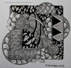#Zentangle by #CertifiedZentangleTeacher Jane Monk #CZT in Tasmania Australia