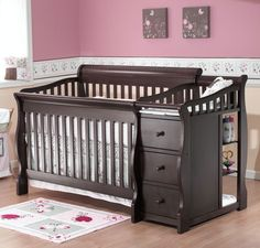 Sorelle Tuscany 4 in 1 Convertible Crib - 1050G