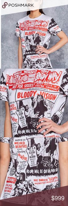 🕷Blackmilk LIMITED EDITION Horror Top is HERE 🕷 It's truly a spectacular piece of horror movie history coming together with stellar antique graphic illustrations to make a shirt that people will stare and read. LIMITED EDITION superior quality of Blackmilk & their genius minds!!! 💋💋💋PRICE FIRM UNLESS BUNDLED Blackmilk Tops Tees - Short Sleeve
