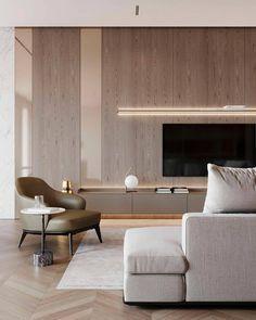 Living Room Tv, Interior Design Living Room, Living Room Designs, Contemporary Interior Design, Living Room Modern, Home And Living, Sala Grande, Minimalist Home, House Design