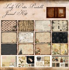 Printable Journal Kit