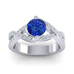 Deluge ring is a perfect option for fashionistas who love sapphires!