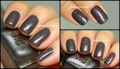 Subtle Stamping. Base: China Glaze Jungle Queen. Stamp: MoYou London Fashionista 07. Stamping Polish: a-england Ascalon.