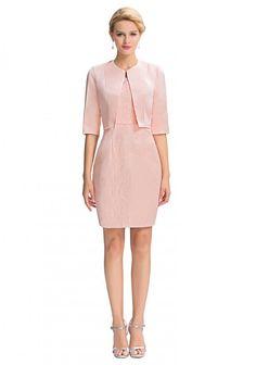 Elegantes Etui-Kleid in Rosa aus Spitze inklusive Bolero - günstig bestellen bei…