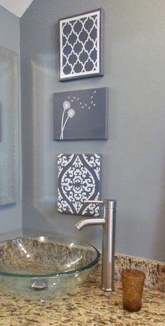 """Handpainted """"stencil"""" art"""