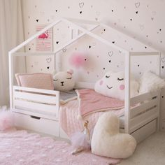 Toddler Room Decor, Toddler Rooms, Toddler Bed, Man Room, Girl Room, Room Ideas Bedroom, Girls Bedroom, Baby Room Design, Kid Beds