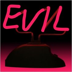 Awesome EVIL Tabletop Neon Sign
