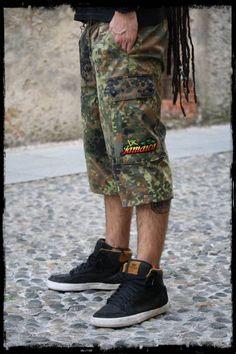 Rasta Style - Bermuda camouflage 3 4 originali vintage . Jah Army.  ATTENZIONE!! Specificare la taglia desiderata! 41600a39a415