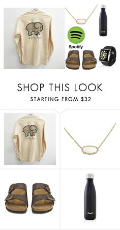 """Drop your spotify names so  I can follow ;)"" by tankawanka on Polyvore featuring Kendra Scott, Birkenstock, S'well and Apple"