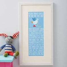 personalised 'the day you were born' print by fromlucy | notonthehighstreet.com