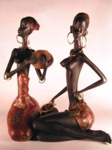 african interior design tribal figures