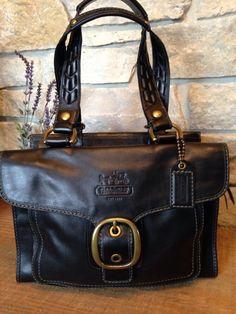 COACH Bleecker Vachetta Leather Tattersall Shopper Shoulder Bag 11420 MSRP $498 #Coach #ShoulderBag