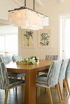 dinning room. love the light fixture