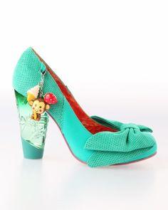 Irregular Choice Trinklettina Heel Shoes - Green