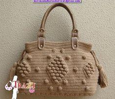 Patrones Crochet, Manualidades y Reciclado: CARTERA HERMOSA CON PERSONALIDAD