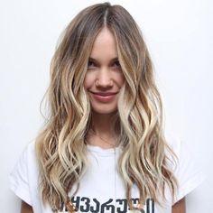 Long Bronde Balayage Hair