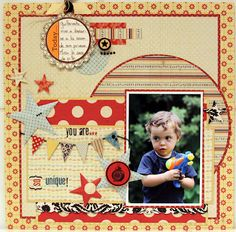 Scrapbook page for a boy