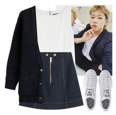 """""""(우지호) Woo Ji Ho (Block B)"""" by evil-maknae ❤ liked on Polyvore featuring Alice + Olivia, Sonia Rykiel, Closed and adidas"""