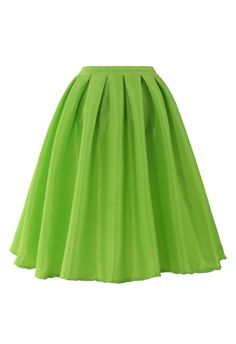 Neon A-line Midi Skirt - Skirt - Bottoms - Retro, Indie and Unique Fashion