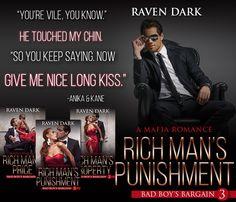 ❥❥**´¨) ¸.•´¸.•*´¨) ¸.•*¨) (¸.•´ (¸.•`*#SALE 99¢ & #FreeKU Bad Boy's Bargain (A Mafia Romace) books 1-3 by Raven Dark  Part Billionaire, part Mafia, all Bad Boy.   ❥❥❥Rich Man's Price (A Mafia Romance) (Bad Boy's Bargain, #1)  ❥Amazon: http://geni.us/O2erd  ❥❥❥Rich Man's Property (A Mafia Romance) (Bad Boy's Bargain, #2) ❥Amazon: http://geni.us/unyOwnv  ❥❥❥Rich Man's Punishment (A Mafia Romance) (Bad Boy's Bargain, #3) ❥Amazon: http://geni.us/AvwsnUD  #RMPunishment #sizzling #bil