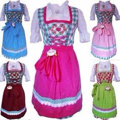 Blitz Dirndl 3 tlg. Trachtenkleid Kleid, Bluse, Schürze, ca. 90cm Größe : 34 bis 42 verschiedene Farben, http://www.amazon.de/dp/B0158U41SS/ref=cm_sw_r_pi_awdl_g3Abwb1BNR6NP