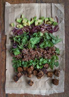Quinoa Tempeh Avocado Bowls