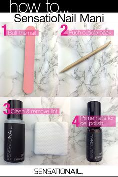 All this is included in our kits! It also comes with a lamp, polish color and a base/top coat #sensationail #primer #manicure #diy