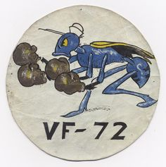 WWII US Navy VF-72 Fighter Squadron from 1941 #military #patches