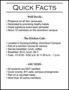 ASU student health organizations Arizona State University, Health Organizations, Student Engagement, Students, Facts, U Of Arizona, Knowledge