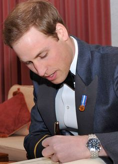 Prince William who, like his dad, is also left-handed for everything except polo. (Polo players are NOT allowed to use their left hands.)