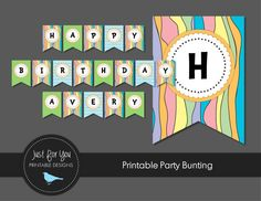 Inspired by the Dr. Seuss book Oh, The Places You'll Go, this personalized printable birthday bunting will add the perfect touch to your child's Oh, The Places You'll Go inspired party!