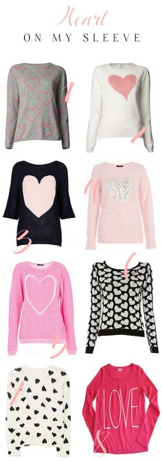 Heart sweaters perfect for Valentine's!
